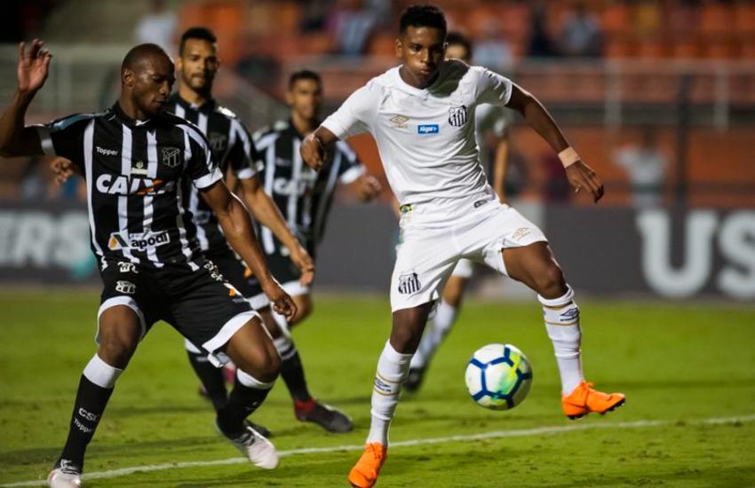 Ceará tenta sua primeira vitória contra o Santos nesta década